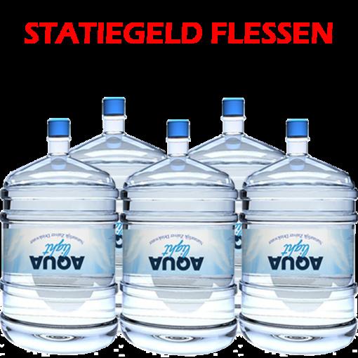 Waterflessen voor waterkoeler met statiegeld