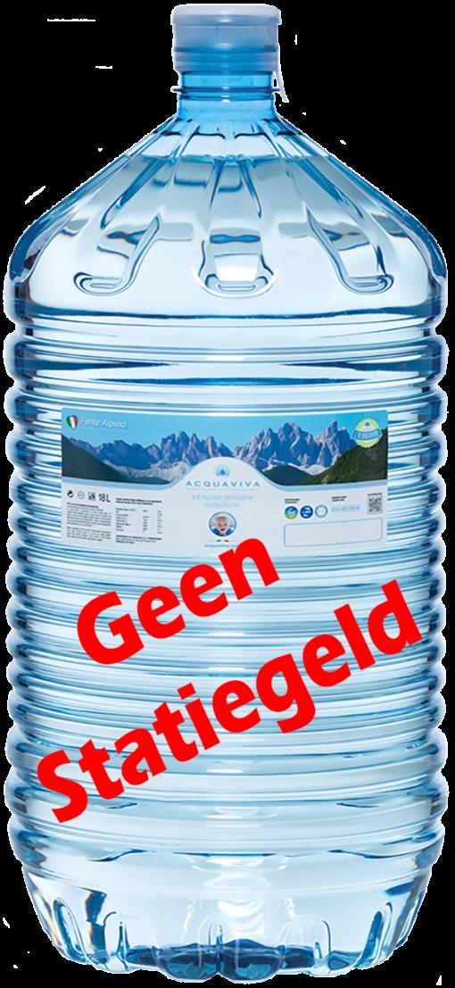 Waterfles voor watercooler zonder statiegeld
