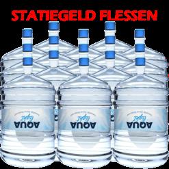 15 x Water bestellen in flessen voor waterkoeler met statiegeld